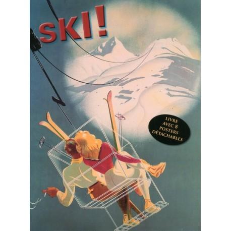 Ski ! - Livre avec 8 posters détachables publicitaires rétro
